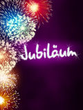 German Jubiläum jubilee anniversary firework pink Royalty Free Stock Photo