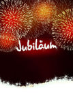 German Jubiläum jubilee anniversary firework red Royalty Free Stock Photography
