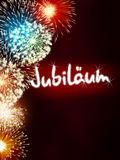 German Jubiläum jubilee anniversary firework red Stock Photos