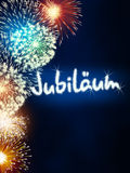 German Jubiläum jubilee anniversary firework blue Royalty Free Stock Image