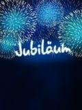 German Jubiläum jubilee anniversary firework blue Royalty Free Stock Photography