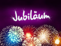 German Jubiläum jubilee anniversary firework pink Royalty Free Stock Photo