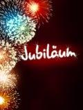 German Jubiläum jubilee anniversary firework red Stock Photos