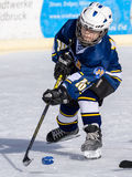 German kids playing ice hockey Royalty Free Stock Images