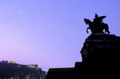german Koblenz posąg obraz royalty free
