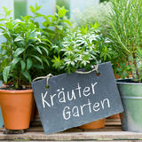 German: Kräutergarten Stock Photo