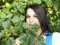 German Lady outdoor Stock Image