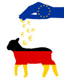 German lamb and european subsidies Royalty Free Stock Image