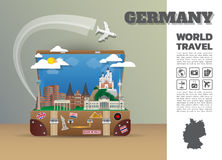 German Landmark Global Travel And Journey Infographic luggage.3D. Design Vector Template.vector/illustration. can be used for your business, advertisement or Royalty Free Stock Photo