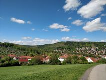 German landscape hill Stock Photography