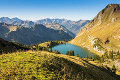 German landscape with mountains and lake Royalty Free Stock Photo