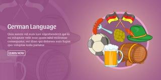 German language banner horizontal, cartoon style Royalty Free Stock Images
