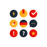 German language courses advertising concept. Fluent speaking foreign language Royalty Free Stock Photo