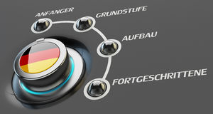 German language courses, learning and education concept Royalty Free Stock Photography