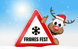 German language Frohes Fest for Happy Holiday Royalty Free Stock Photos