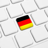 German language or Germany web concept. National flag button  Royalty Free Stock Photography