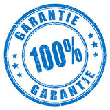 German language guarantee rubber stamp. 100 garantie Stock Photo