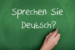 German Language Learning Royalty Free Stock Images