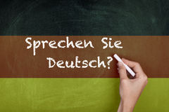 German Language Learning Stock Images