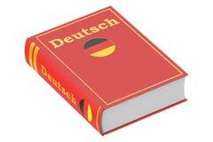 German language textbook. 3D rendering Royalty Free Stock Images