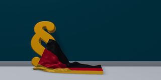 German law - 3d rendering royalty free illustration