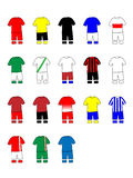 German League Clubs Kits 2013-14 Bundesliga Royalty Free Stock Photography