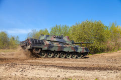 Free German Leopard 1 A 5 Tank Drives On Track Stock Image - 71018641