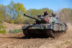 German leopard 1 a 5 tank drives on track Royalty Free Stock Photos