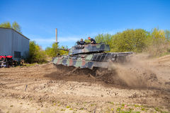 German leopard 1 a 5 tank drives on track Stock Photos