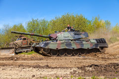 German leopard 1 a 5 tank drives on track Stock Images