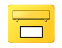German letter box. In yellow with opening royalty free illustration
