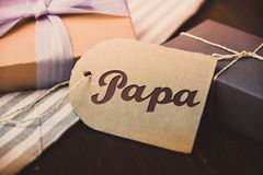 German Letter Daddy Happy fathers day present gift hipster vintage man Papa Royalty Free Stock Images