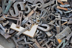 German letters, made of metal Royalty Free Stock Photography