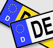 German Licence Plates Royalty Free Stock Images