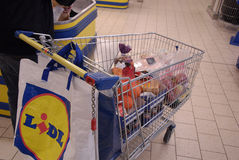 German lidl chain store. Hillerod/Hiller�d /Denamrk _26 Feb  2015_  German Lidl food chain sueprmarket in Copenhagen                 (Photo by Francis Joseph Royalty Free Stock Images
