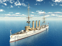 German Light Cruiser. Computer generated 3D illustration with a German Light Cruiser from the first world war Royalty Free Stock Image