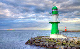 German lighthouses. On stones at the sea royalty free stock images