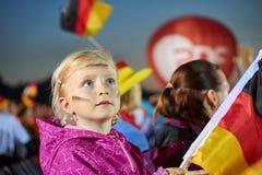 German little soccer fan Stock Photo