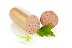 German Liverwurst Royalty Free Stock Photos