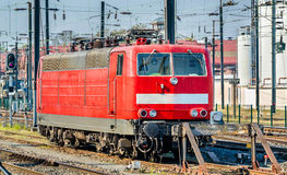 German locomotive at Strasbourg Central Station, France Royalty Free Stock Photos
