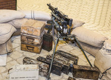 German machine-gun nest during the 2nd World War Stock Photography