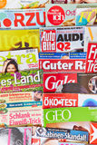 German magazines on display Royalty Free Stock Photography