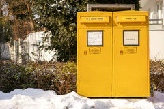 German mailboxes Royalty Free Stock Photography