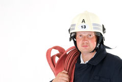 German male firefighter Stock Images
