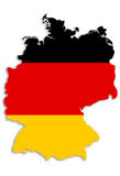 German map. Outline of Germany filled with german flag - (without drop shadow stock illustration