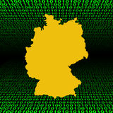 German map over binary code Stock Photography