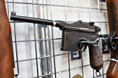 German Mauser C96 semi-automatic pistol Royalty Free Stock Images