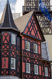 German medieval house. With red facade Stock Photo
