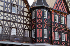 German medieval house. With red and white facade Stock Photography