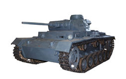 German medium tank PzKpfw III isolated Royalty Free Stock Photo